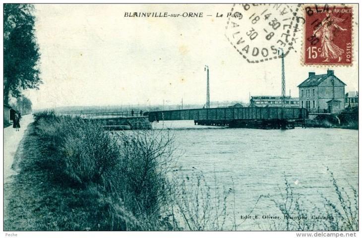 les ponts de Caen sur l'Orne à la date du 6 juin 1944 Pont-b10