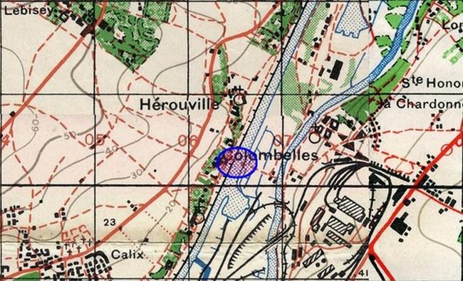 les ponts de Caen sur l'Orne à la date du 6 juin 1944 Pont-c11
