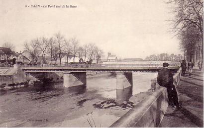 les ponts de Caen sur l'Orne à la date du 6 juin 1944 Pont-d10