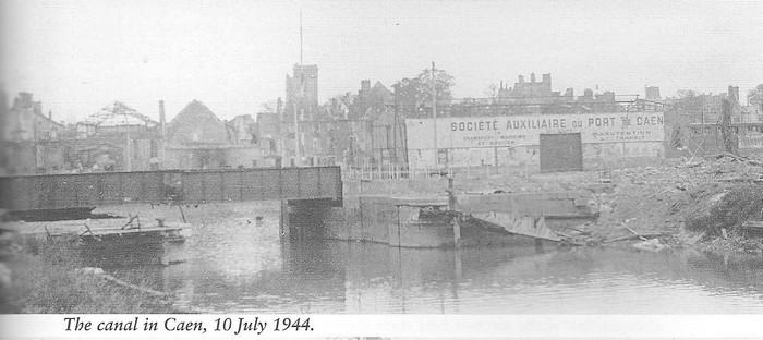 les ponts de Caen sur l'Orne à la date du 6 juin 1944 Pont-d13