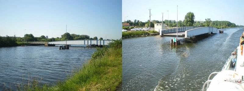les ponts de Caen sur l'Orne à la date du 6 juin 1944 Pont-h10