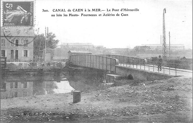 les ponts de Caen sur l'Orne à la date du 6 juin 1944 Pont_d10