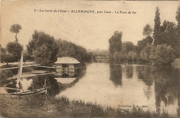 les ponts de Caen sur l'Orne à la date du 6 juin 1944 Pont_d11