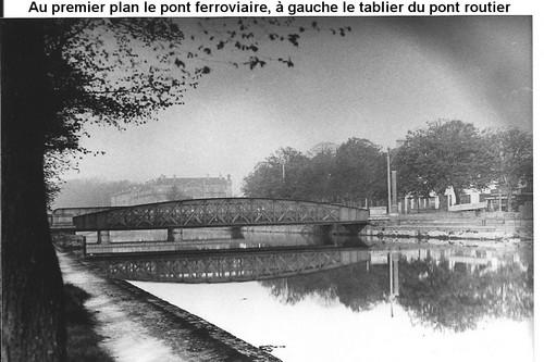 les ponts de Caen sur l'Orne à la date du 6 juin 1944 Pontmu10