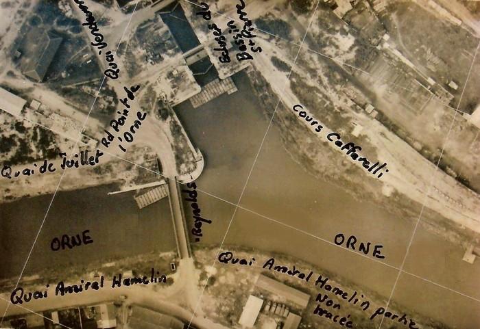 les ponts de Caen sur l'Orne à la date du 6 juin 1944 Reynol10