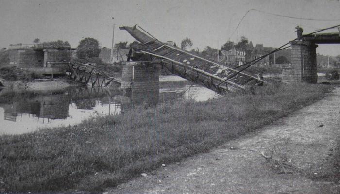 les ponts de Caen sur l'Orne à la date du 6 juin 1944 Viaduc10