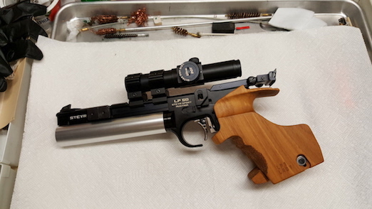 Favorite air pistol for indoor matches 20160910