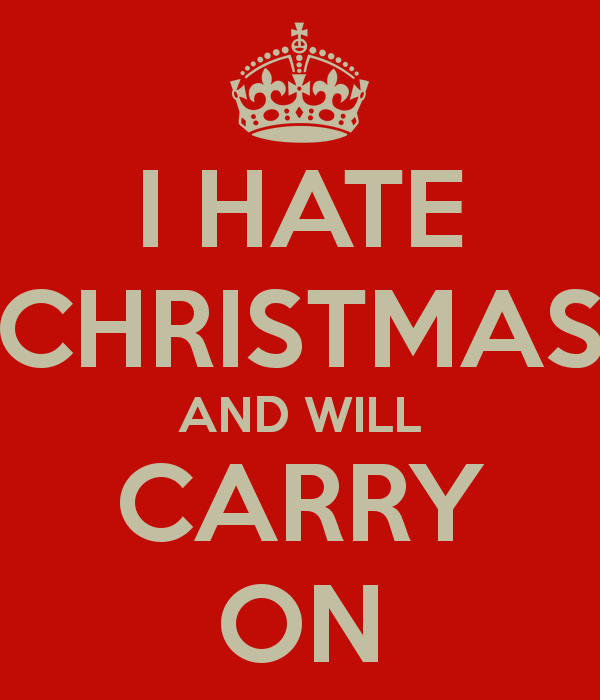 j'aime PAS les fêtes de fin d'année... stratégies ?  I-hate10