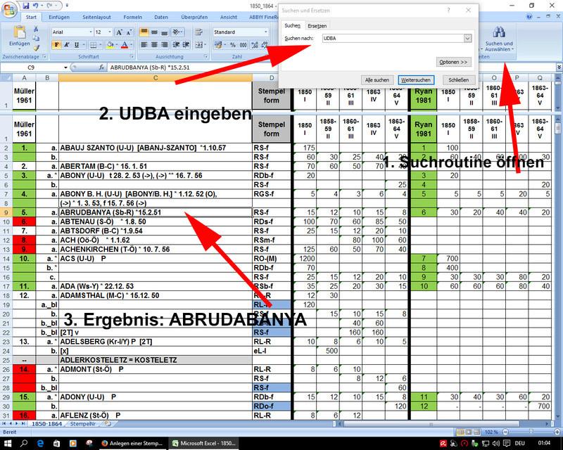 Anlegen einer Stempeldatenbank Daten710