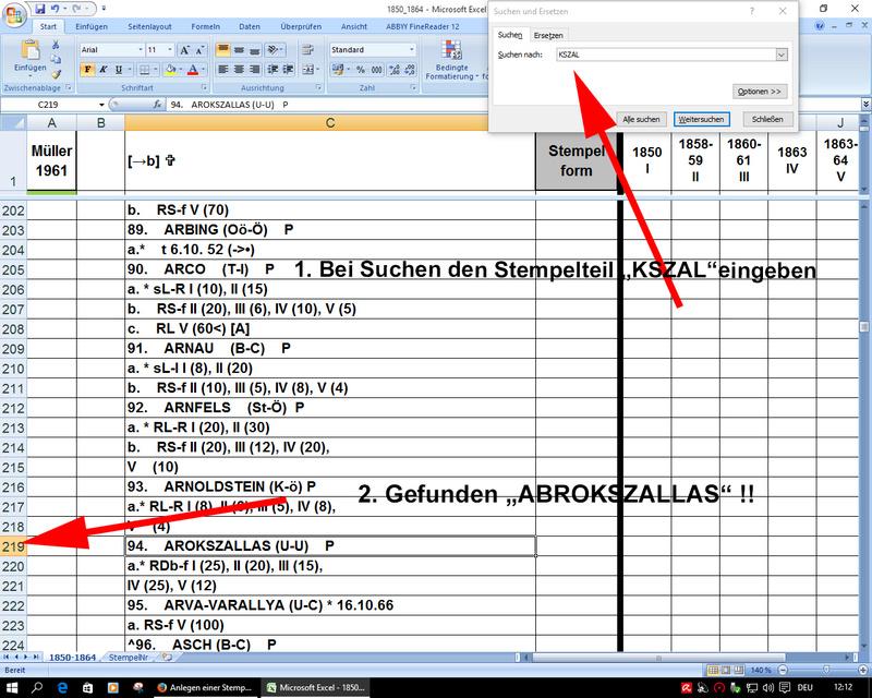 Anlegen einer Stempeldatenbank Daten910
