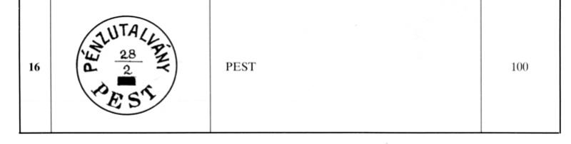 Freimarken-Ausgabe 1867 : Kopfbildnis Kaiser Franz Joseph I - Seite 14 Pest310