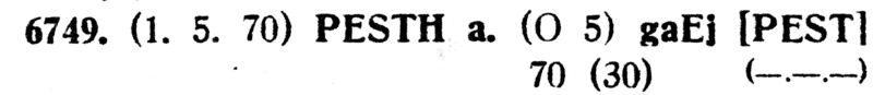 Freimarken-Ausgabe 1867 : Kopfbildnis Kaiser Franz Joseph I - Seite 14 Pest410