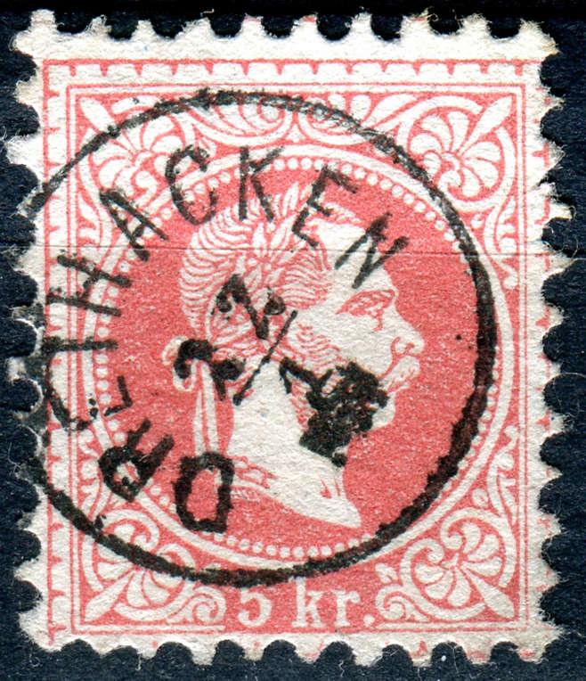 Freimarken-Ausgabe 1867 : Kopfbildnis Kaiser Franz Joseph I - Seite 15 Xx30610
