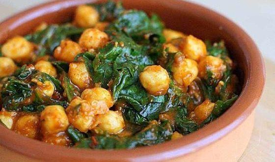 Garbanzos con espinaca, una receta española irresistible Garban10