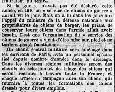 Les chiens dans l'armée française Journa11