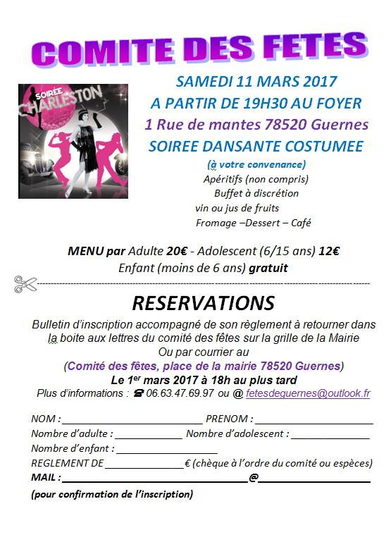 Samedi 11 Mars 2017  Soirée Dansante  Flyer10