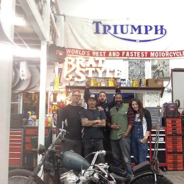 Triumph Old school chop Brat_s10