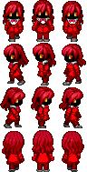 Pixel Art d'un personnage avec hache ... Nightm10