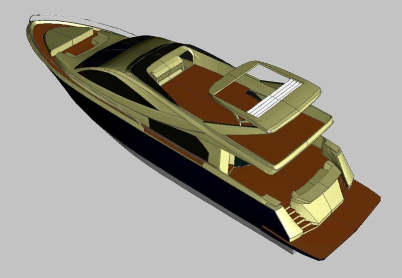 Yacht flybridge au 1/25eme Wt85_p10
