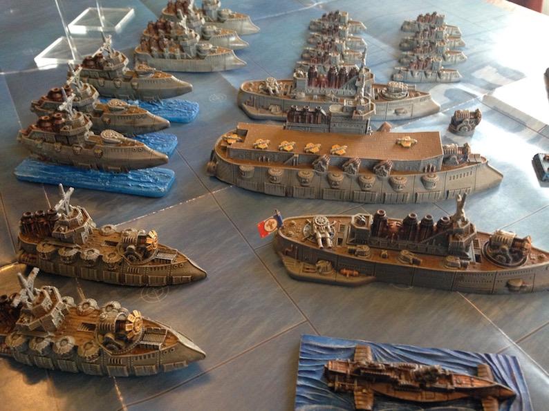 (Vendu) flotte Dystopian Wars Republic of France, peinte Rof_510