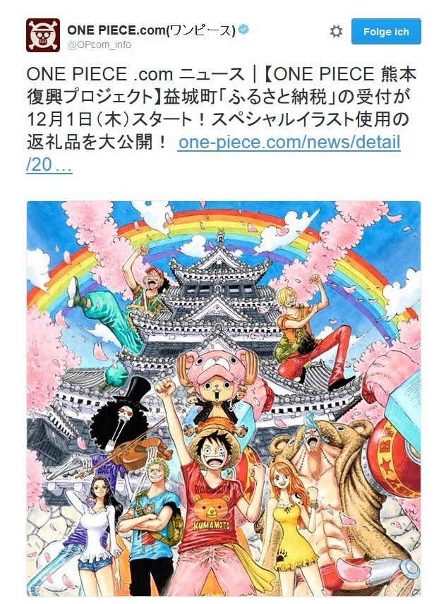One Piece Kampagne sammelt Geld um die Präfektur Kumamoto wiederaufzubauen.   Kumamo10