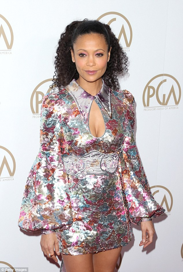 Thandie Newton looking gorgeous as ever in short sparkle mini dress 3c9d3e10