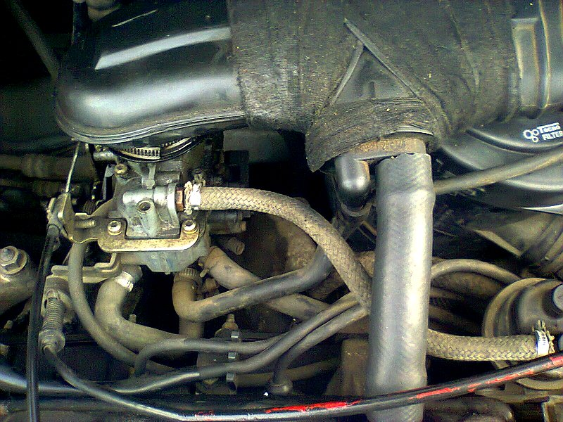 Sujet peugeot 206 bricolé avec moteur 205 Photo010