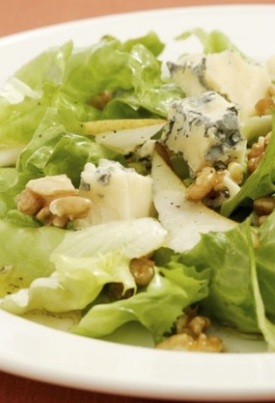 Escarole , poire et bleu à l'huile de noix Escaro10