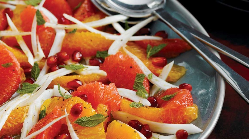 Salade de grenade, de fenouil et d'orange Salade10