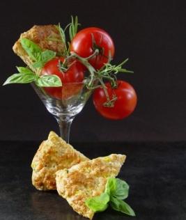 Scones au cheddar et légumes Scones10