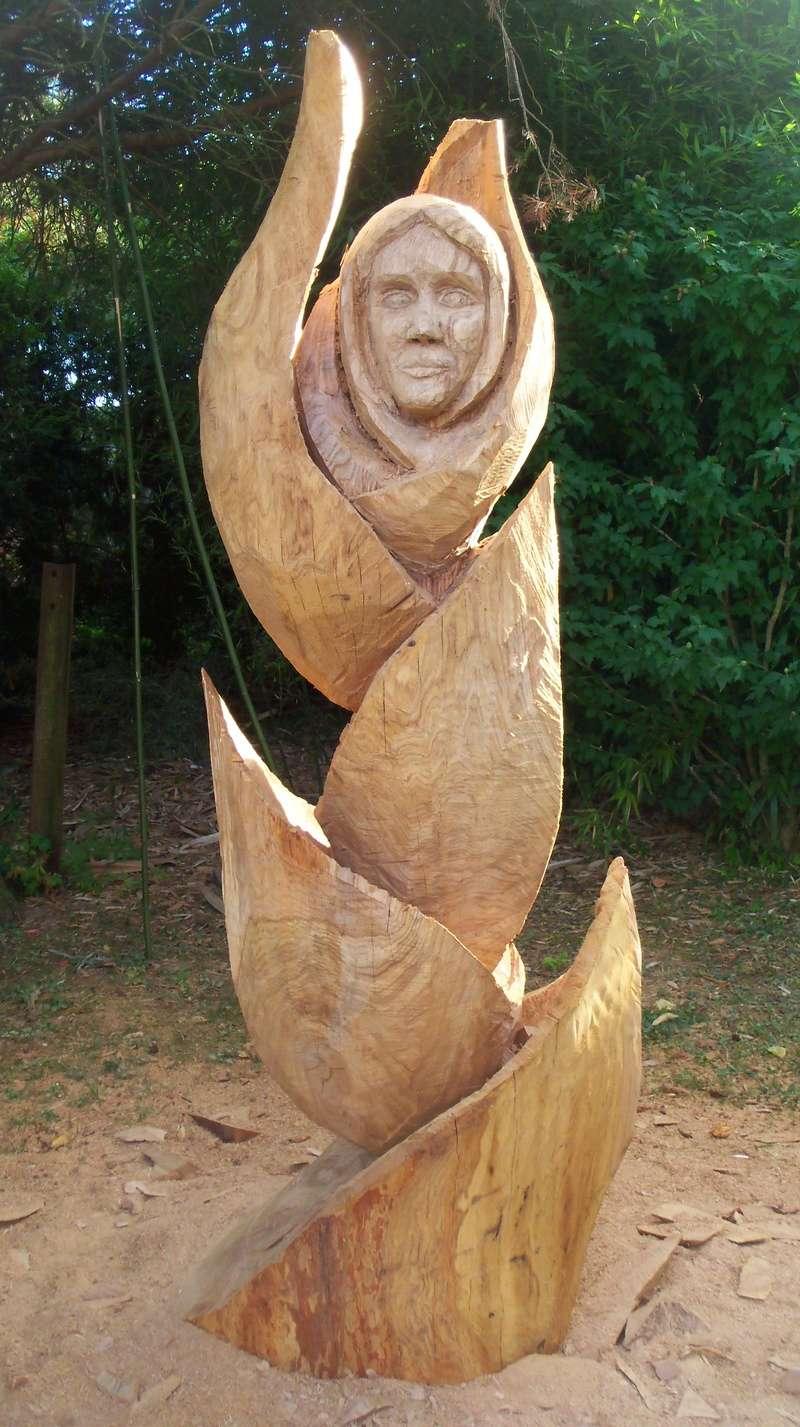 sculpture monumentale en chêne 100_6816