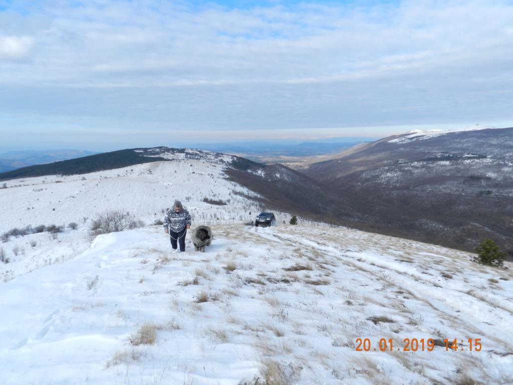 20 gennaio 2019, con il 3 Kraji sul monte Golic 20_gen49