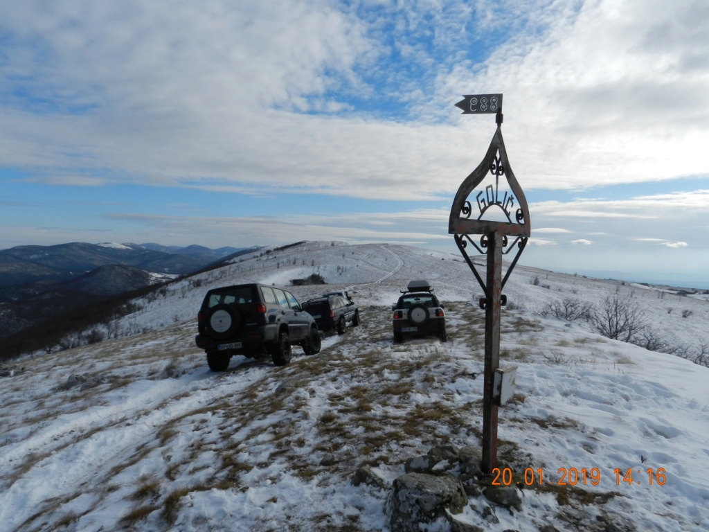 20 gennaio 2019, con il 3 Kraji sul monte Golic 20_gen50