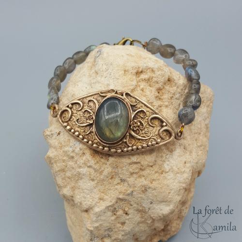 Bracelet en Bronze classique meteor clay  Bastet10