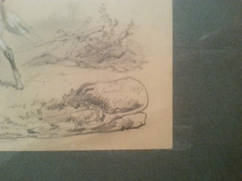 dessin (hussard) de Jean Sorieul - 1847 20161213