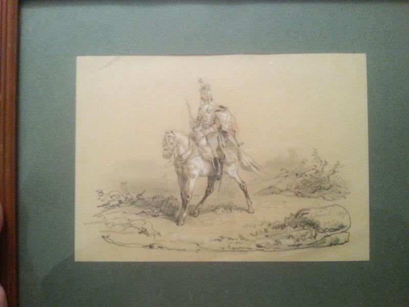 dessin (hussard) de Jean Sorieul - 1847 20161215