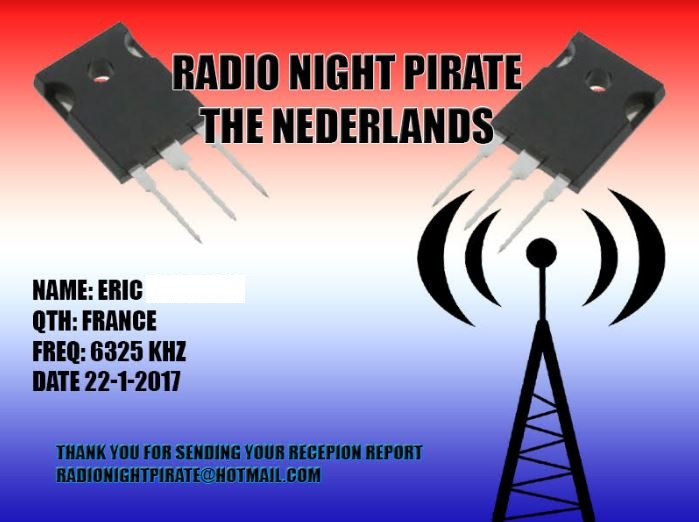 eQSL de radio night pirate Rnp10