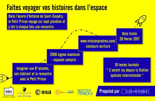 [concours littéraire] Le Petit Prince et la mission Proxima 111
