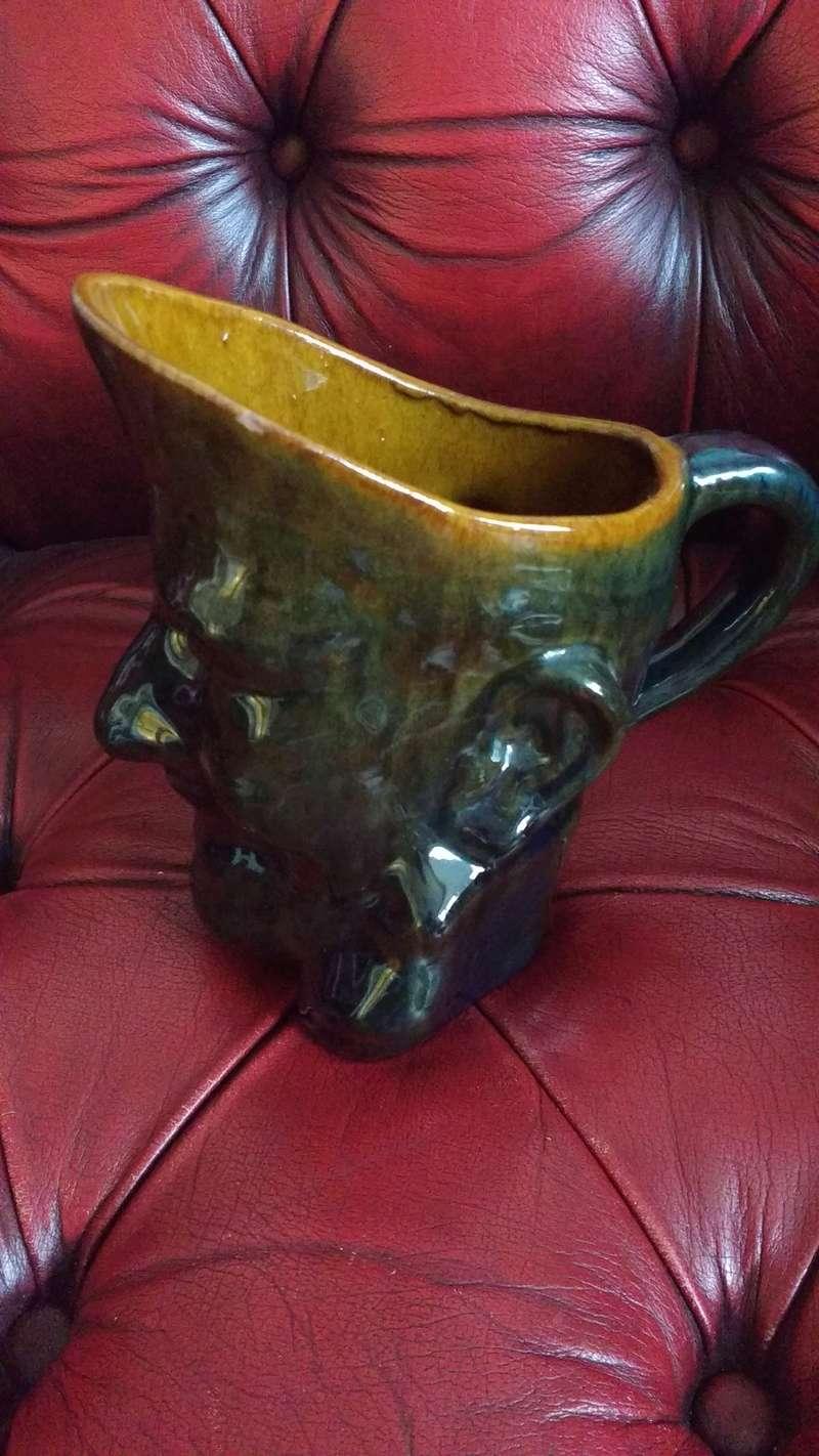dark blue/brown treacle glased jug hand written mark Img_2015