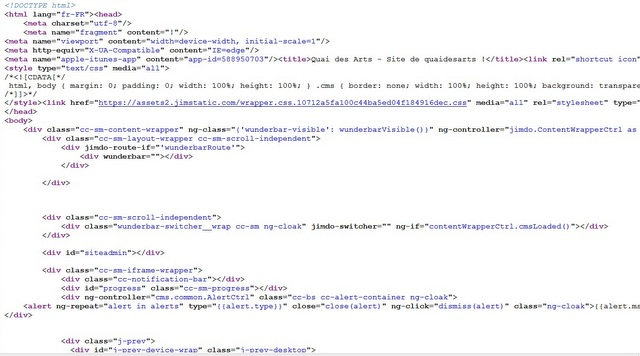 apparition d'une image en haut d'écran Jimdo_10