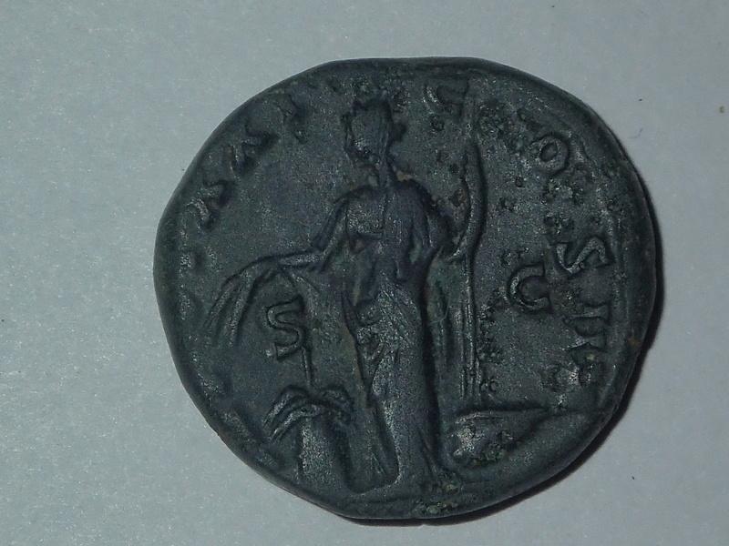 Dupondius Antonin le Pieux TR POT XXI COS IIII  (Annona) Pc112520