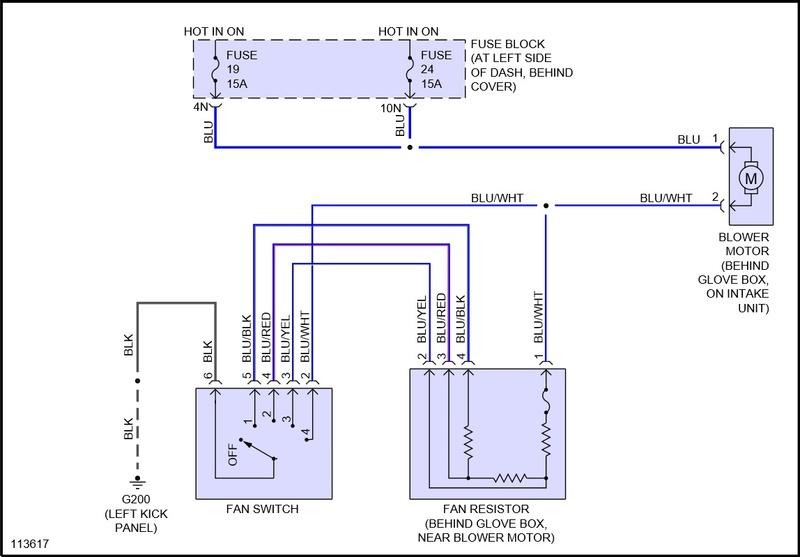 Schema electrique ventilation habitacle nissan pickup de 1999 Va113610