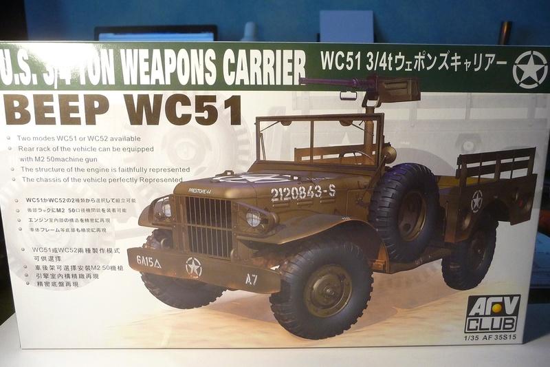 AFV CLUB 1/35  réf  AFV 35S15 U.S. 3/4 TON WEAPONS CARRIER WC 52 ( 8éme Cuir) P1070110
