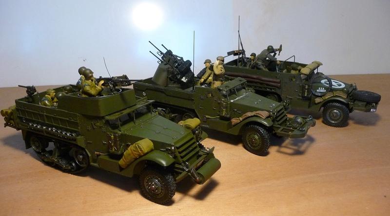 TAMIYA 1/35 -  Mes trois Half track - M3A2  - M21  -  M16  P1070117
