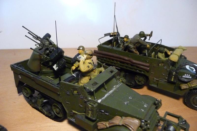 TAMIYA 1/35 -  Mes trois Half track - M3A2  - M21  -  M16  P1070119
