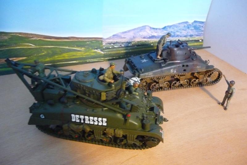 ITALERI 1/35 éme= Récupération d'un Sherman détruit par un Discovery . P1070130