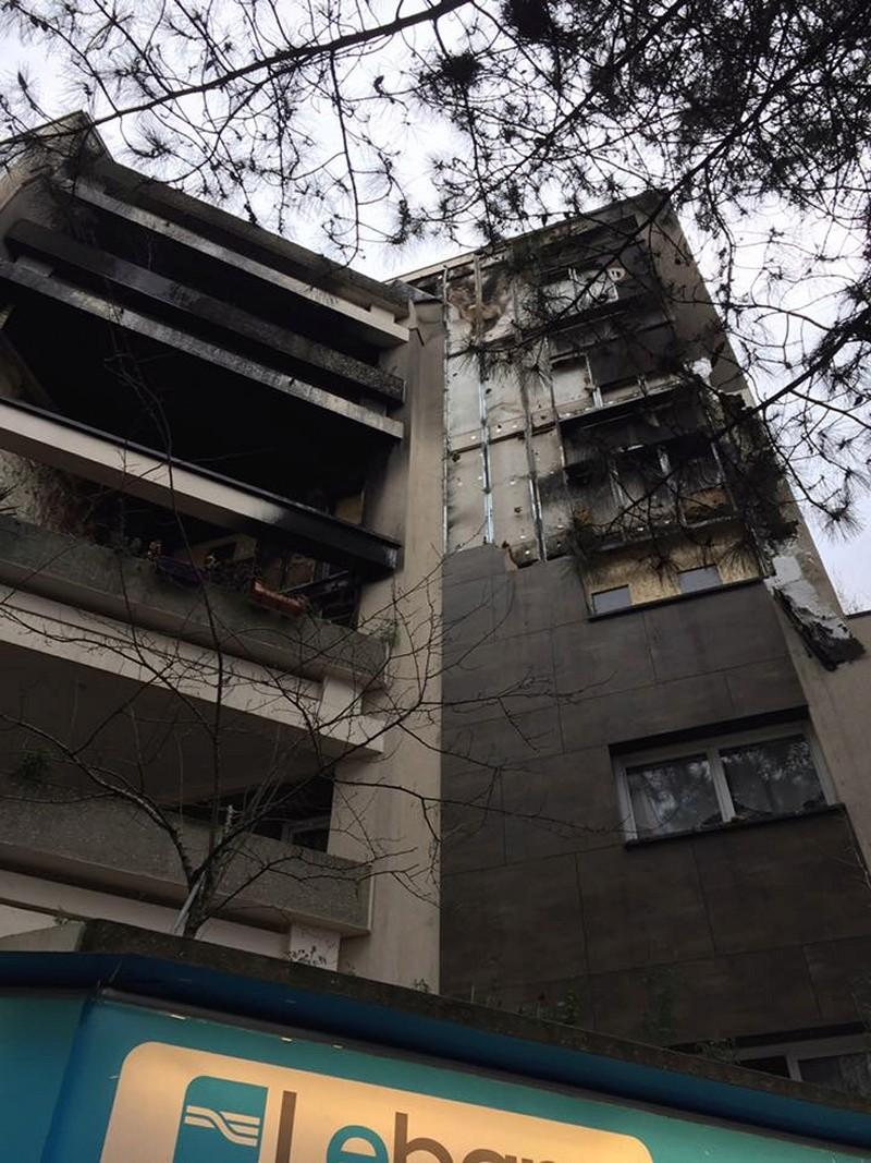Incendie aux Maillard Jean Zay - Isolation extérieure des bâtiments Incend11