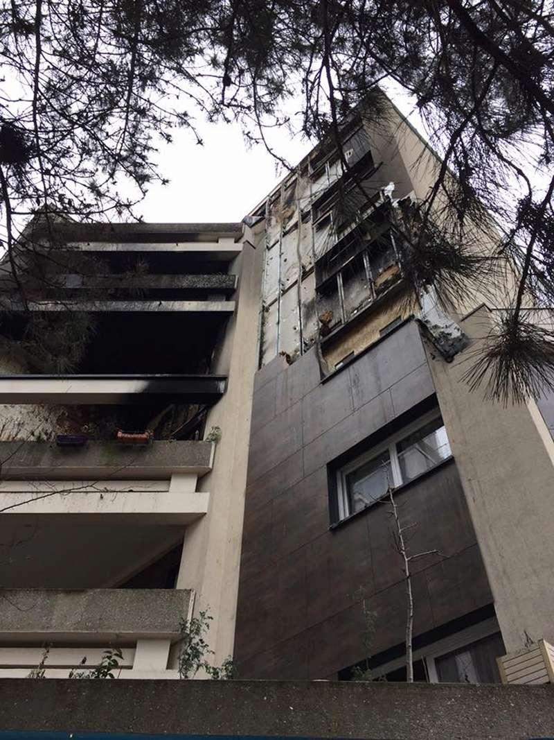 Incendie aux Maillard Jean Zay - Isolation extérieure des bâtiments Incend12