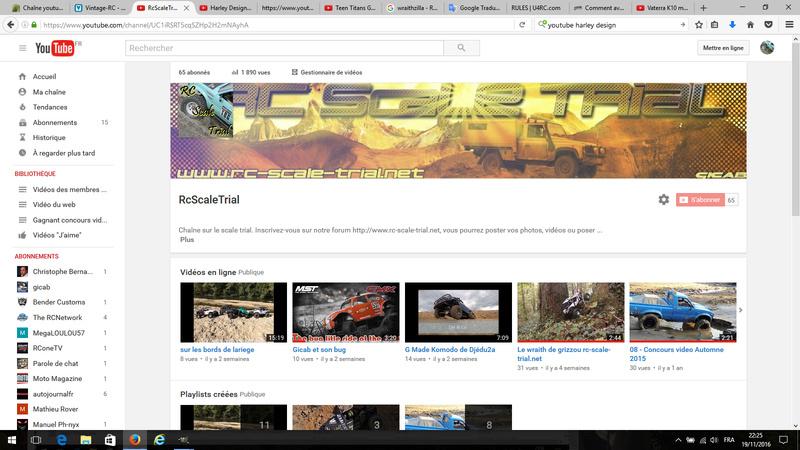 Chaîne youtube du forum 1110