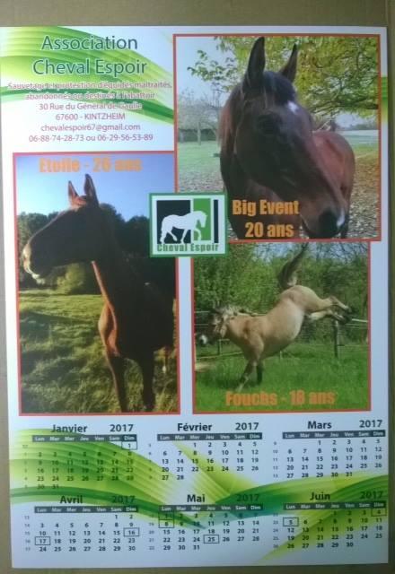 Calendriers Cheval Espoir 2017 Cal110
